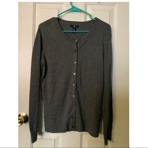 GAP Gray Button-Up Cardigan